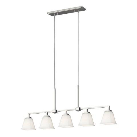 Ellis Harper Five Light Island Pendant Brushed Nickel