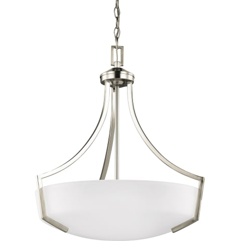 Hanford Three Light Pendant Brushed Nickel Bulbs Inc