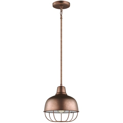 Jeyne One Light Pendant Weathered Copper