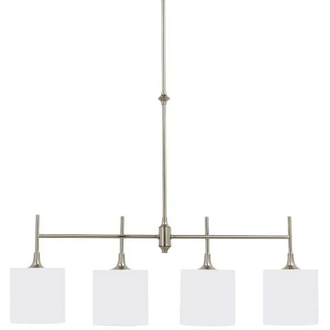 Stirling Four Light Island Pendant Brushed Nickel Bulbs Inc