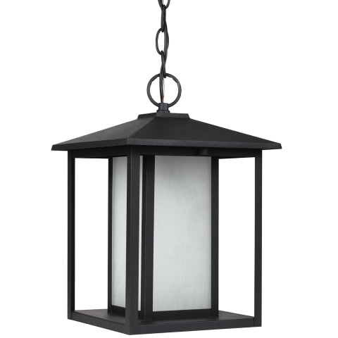 Hunnington One Light Outdoor Pendant Black