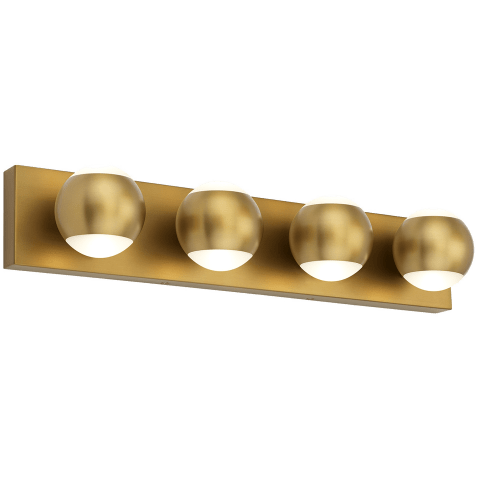 Oko 4-Light Bath 4 Light  aged brass 3000K 90 CRI led 90 cri 3000k 120v