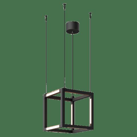 Brox Cube 12 Pendant Cube nightshade black 3000K 90 CRI 24v remote canopy