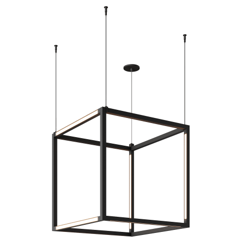 Brox Cube 24 Pendant Cube nightshade black 3000K 90 CRI 24v surface canopy