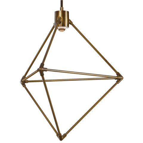 Candora 19 Chandelier aged brass 3000K-2200K 90 CRI integrated led 90 cri 3000k-2200k 120v (t24)