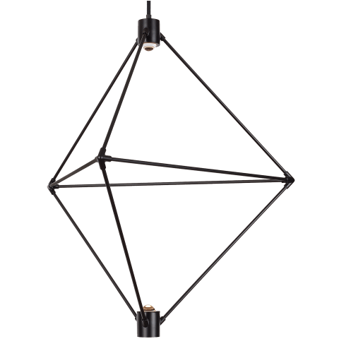 Candora 29 Chandelier matte black 3000K-2200K 90 CRI integrated led 90 cri 3000-2200k 120v (t24)