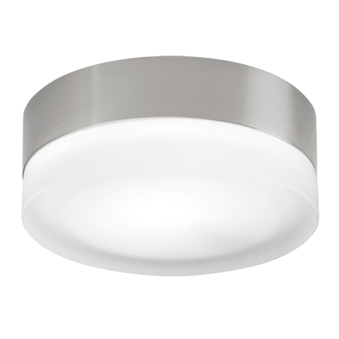 360 Large Flush Mount Large Frost satin nickel incandescent (t20)