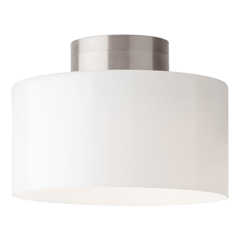 Manette Large Flush Mount Large Gloss White satin nickel 3000K 80 CRI led 80 cri 3000k 120v