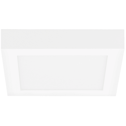 Tenur Square 9 Flush Mount 9 matte white 3000K 90 CRI integrated led 90 cri 3000k 120v