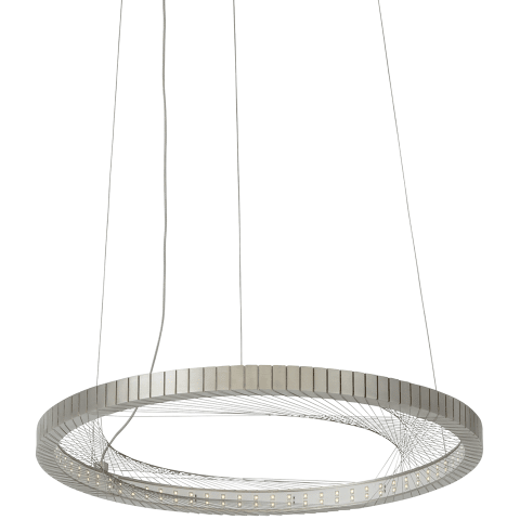 Interlace 18 Suspension satin nickel 2700K 80 CRI integrated led 80 cri 2700k 120v