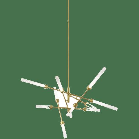 Linger 12-Light Abstract Chandelier 12-Light Abstract Chandelier natural brass 3000K 90 CRI integrated led 90 cri 3000k 120v (t20/t24)