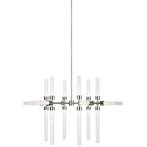 Linger 18-Light Chandelier 18-Light Chandelier polished nickel 3000K 90 CRI integrated led 90 cri 3000k 120v (t20/t24)