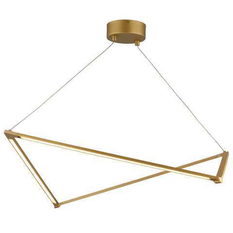 Balto Linear Suspension satin gold 3000K 90 CRI integrated led 90 cri 3000k 120v (t24)