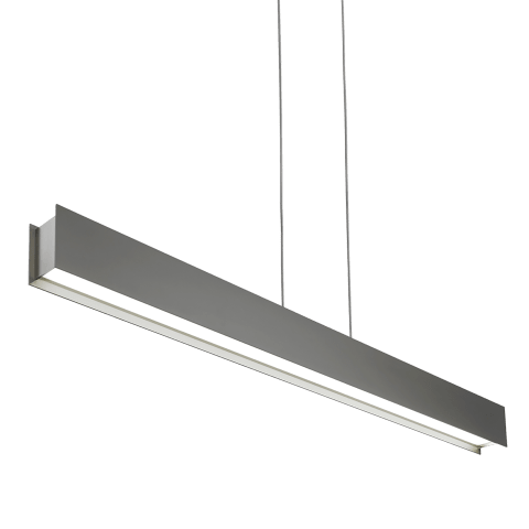 Vandor Linear Suspension Gray Rubberized satin nickel 3000K 80 CRI led 80 cri 3000k 120v