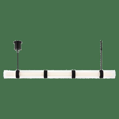 Wit Linear Suspension 5 Glass black 3000K 90 CRI integrated led 90 cri 3000k 120-277v unv (t24)