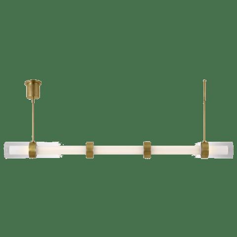 Wit Linear Suspension 5 Glass aged brass 3000K 90 CRI integrated led 90 cri 3000k 120-277v unv (t24)