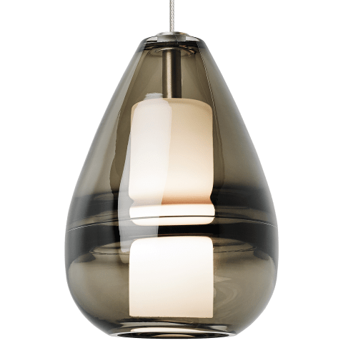 Mini Ella Pendant MonoPoint Smoke satin nickel 3000K 90 CRI 12 volt led 90 cri 3000k (t20/t24)