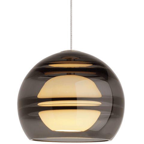 Sedona Pendant MonoPoint Transparent Smoke satin nickel 3000K 90 CRI 12 volt led 90 cri 3000k (t20/t24)