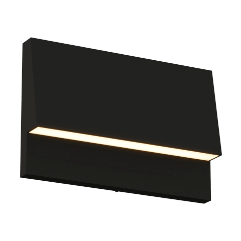 Krysen Outdoor Wall/Step Light black 2700K/3000K Selectable 90 CRI