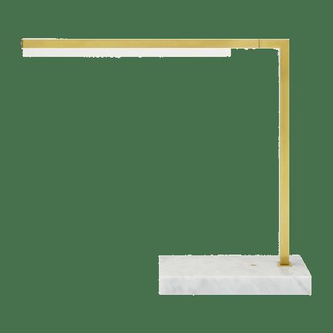 Klee 18 Table Lamp natural brass/white marble 2700K 90 CRI integrated led 90 cri 2700k 120v-240v