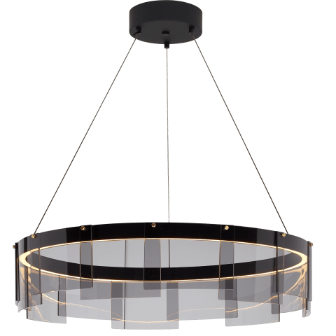 "Stratos 30 Chandelier 30"" Diameter Smoke/Black 2700K 90 CRI  led 90 cri 2700k 120v"