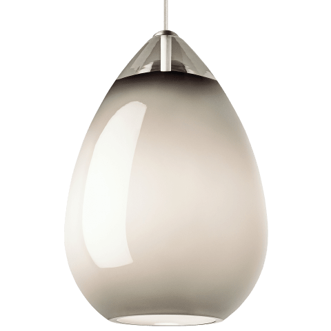 Alina Grande Pendant Smoke satin nickel no lamp