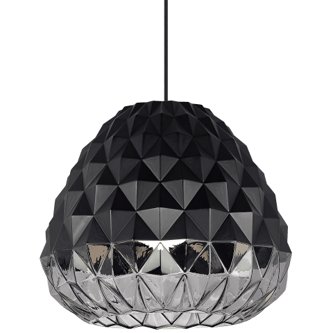 Facette Grande Pendant black/smoke no lamp