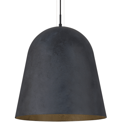 Fett Pendant weathered zinc no lamp