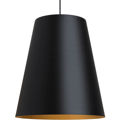Gunnar Pendant Black/Satin Gold no lamp