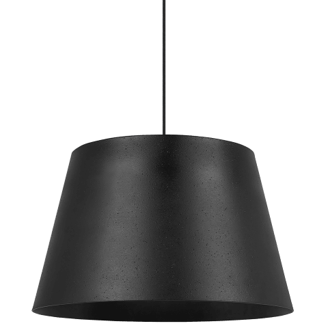 Henley Pendant Textured Black/Black no lamp