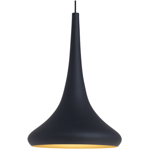Noema Pendant black/gold no lamp