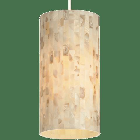 Playa Line-Voltage Pendant Natural satin nickel no lamp