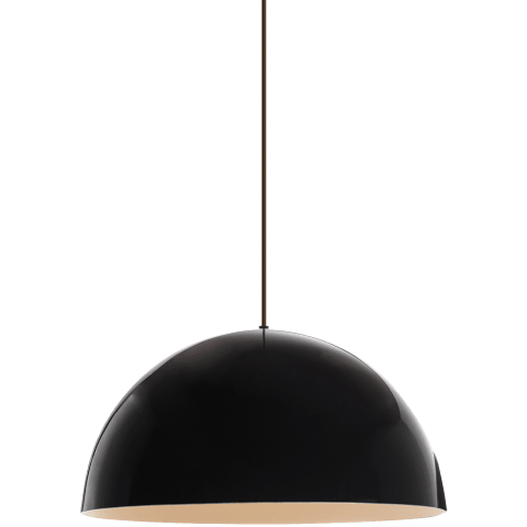 Powell Street Pendant Gloss Black/White black no lamp