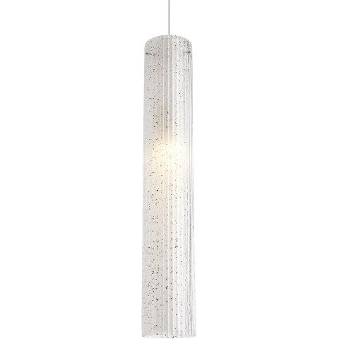 Rombo Grande Pendant Clear satin nickel no lamp
