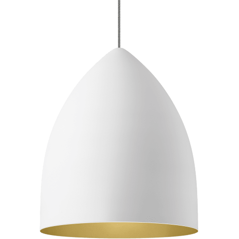 Signal Grande Pendant Rubberized White/Gold no lamp