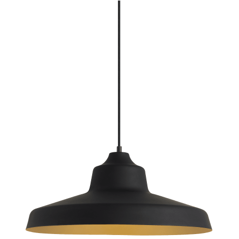 Zevo Pendant black/gold no lamp