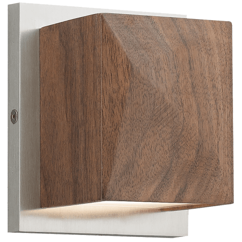 Cafe Wall walnut/satin nickel 3000K 90 CRI led 90 cri 3000k 120v
