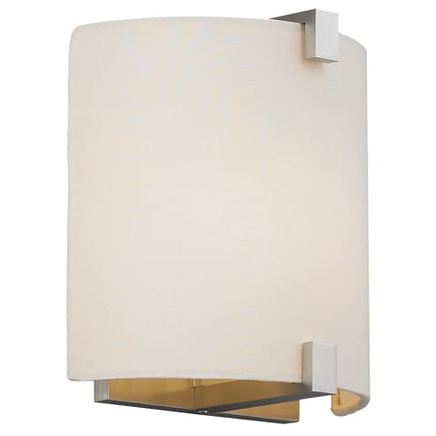 Essex Wall Fabric White satin nickel incandescent 120v