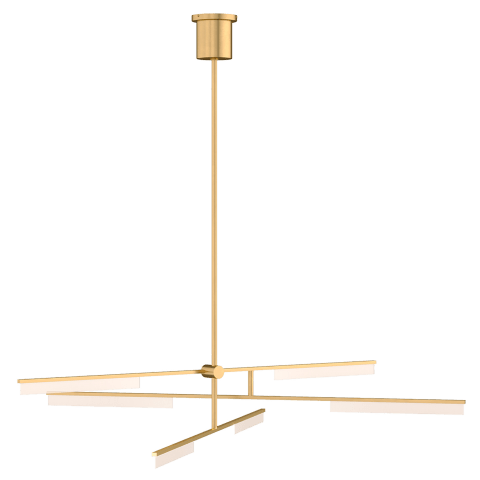 Klee 6-Light Chandelier 6-Light Chandelier natural brass 3000K 90 CRI