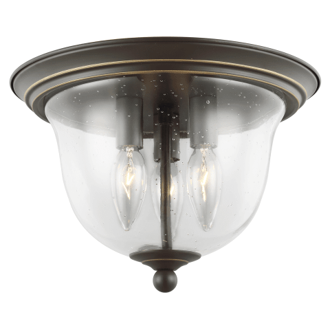 Belton Three Light Flush Mount Heirloom Bronze