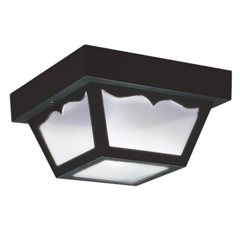 Two Light Flush Mount Black Bulbs Inc