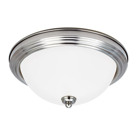 Geary One Light Flush Mount Brushed Nickel