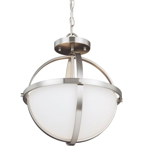 Alturas Two Light Semi-Flush Convertible Pendant Brushed Nickel