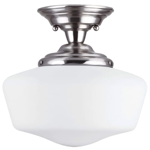 Academy Large One Light Semi-Flush Mount Brushed Nickel