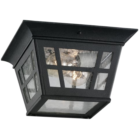 Herrington Two Light Outdoor Flush Mount Black