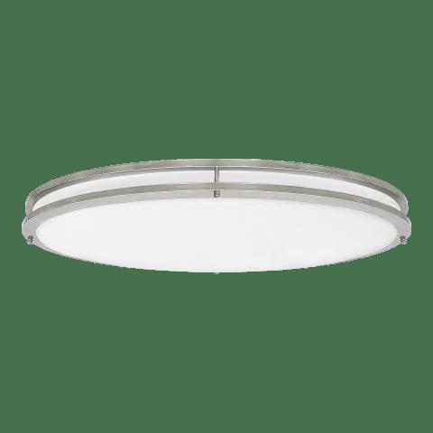 Mahone Oval LED Flush Mount Brushed Nickel Bulbs Inc