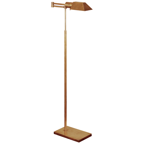 Studio Swing Arm Floor Lamp in Hand-Rubbed Antique Brass