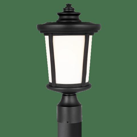 Eddington One Light Outdoor Post Lantern Black