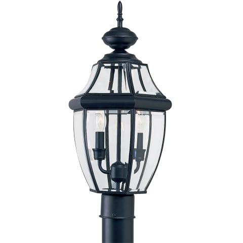 Lancaster Two Light Outdoor Post Lantern Black