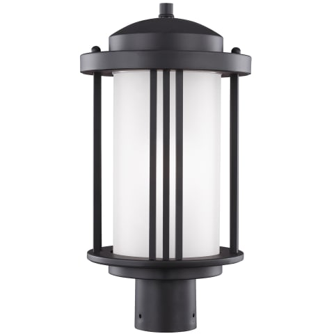 Crowell One Light Outdoor Post Lantern Black